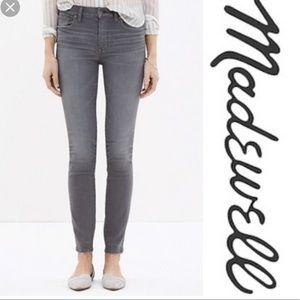 Madewell 9 Inch High Rise Skinny Frayed Jean  24